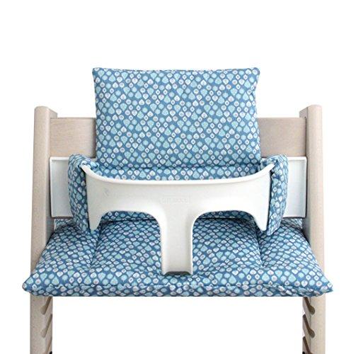 Blausberg Baby *41 couleurs* coussin set de siège pour chaise haute Stokke Tripp Trapp (Goutte Bleu) tous les matériaux sont certifiés OEKO-TEX® Standard 100-100% made in Hamburg