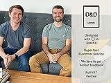 D&D Living Deko Tablett Rund Ø 40 cm | Design Dekoteller und Dekotablett aus Metall (Weiß matt) - 7