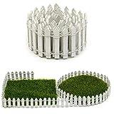 1pc Hölzerner Zaun Miniatur-fee-Garten-Dekoration Zaun Terrarienhaus DIY Zubehör Dekor Weiß