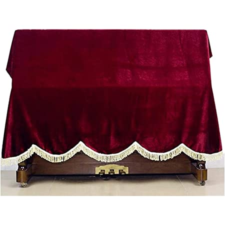 KINGZHUO Purplish Red Thickened Pleuche Piano Cover Upright Piano Dust Cover About 75 x 60 inch