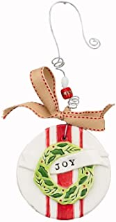 Glory Haus 21100104 Joy Wreath Flat Ornament, Multicolor