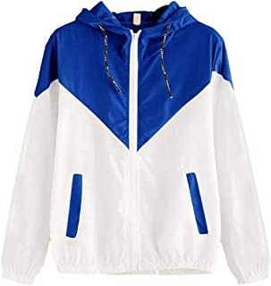 Women's Hoodies Long Sleeves Zip Jacket Oversize Lightweight Windbreaker Sweatshirt Jackets Autumn Hoodie Outerwear Loose ...