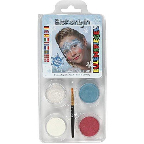 Búho Espejo Diseño Set Frozen compuesto de 4colores y un pincel, 6unidades)