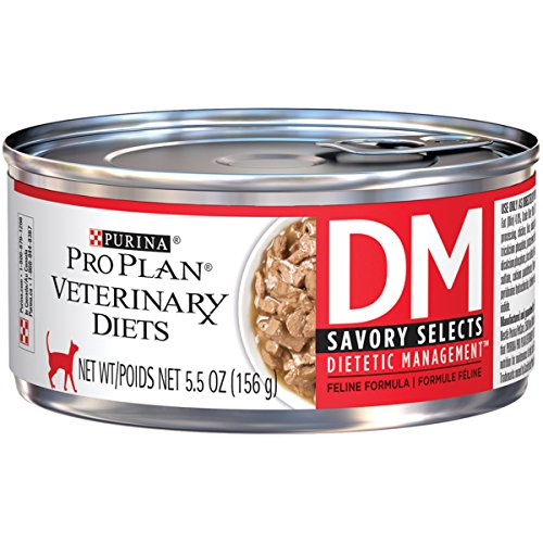 PURINA Pro Plan Veterinary Diets DM Savory Selects Dietetic Management Feline Formula Wet Cat Food -...