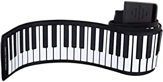 61 Key Foldable Piano Outdoor Electronic Keyboards Home Hand Roll Digital Keyboard Practicing Piano (Color : 61 key)