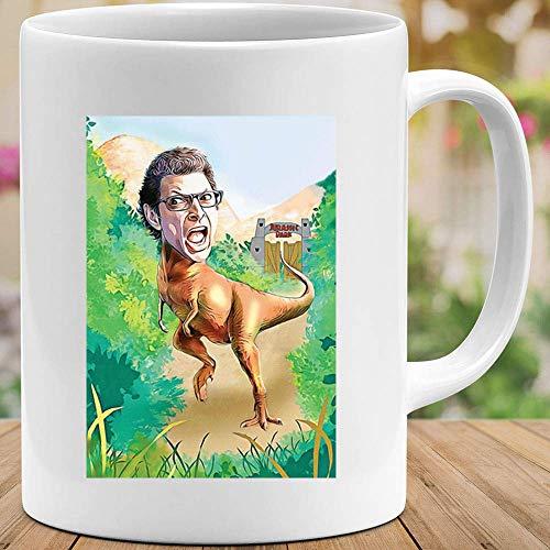 #Jurassic Park Ian #Malcolm Dinosaurs 1993 Adventure Sci-Fi Sitcom programa de televisión Comedia Funny Meme Disfraz Película Drama Tazas Café o té