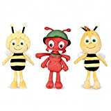 Play by Play Pack DE 3 Peluches LA Abeja Maya Amigo Willie Y LA Hormiga Paul 24 CM