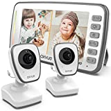 [HD] Video Baby Monitor, 720P 5' HD Display, IPS Screen, 2 HD Cams, 12-Hour Battery Life, 1000ft Range, 2-Way Communication, Secure Privacy Wireless Technology