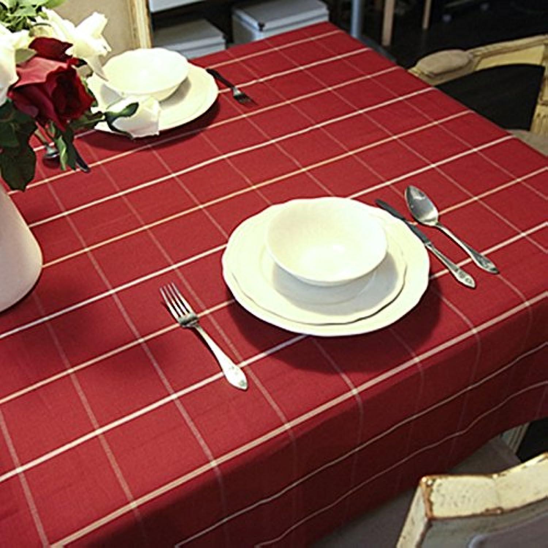 orden en línea Tablecloth.L Lying Mantel Rojo Festivo Mantel Algodón Hotel Café Café Café Mantel Mantel Mantel Simple - Decoración de Mantel (Tamaño   145  220CM)  saludable