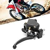 Maneta de freno Palanca de embrague, Qiilu 7/8'22 mm Palanca de freno doble Regulador de velocidad del acelerador del pulgar Apto para 49cc Mini Kid Quad ATV Bike