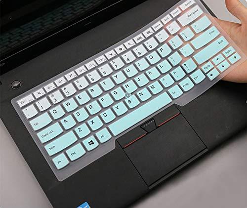 Keyboard Cover Skin for 14' Lenovo Thinkpad X1 Carbon 5th/6th/7th, ThinkPad X1 Yoga 14' 3/4/5, Thinkpad A475 L460 L470 T460(s) T470(s) T470p T480(s) 14',New S2, ThinkPad E14 E460, Gradual Mint Green