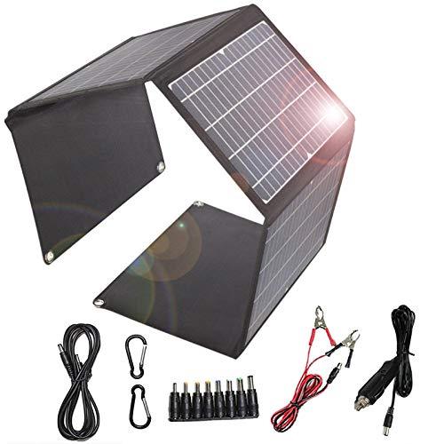 Cargador solar plegable 28W panel solar 2 puertos USB 1 puerto DC portátil impermeable QC3.0...