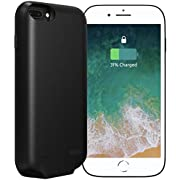 Battery Case, Rechargeable Charger Case 4000mah Portable Protective Power Bank Compatible with iPhone 6 6s 7 8(6.2 inch)