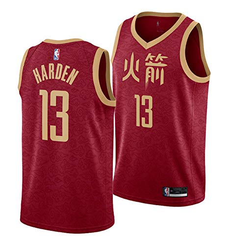 Outerstuff James Harden Houston Rockets #13 Red Youth Road City Edition Swingman Jersey (Small 8)