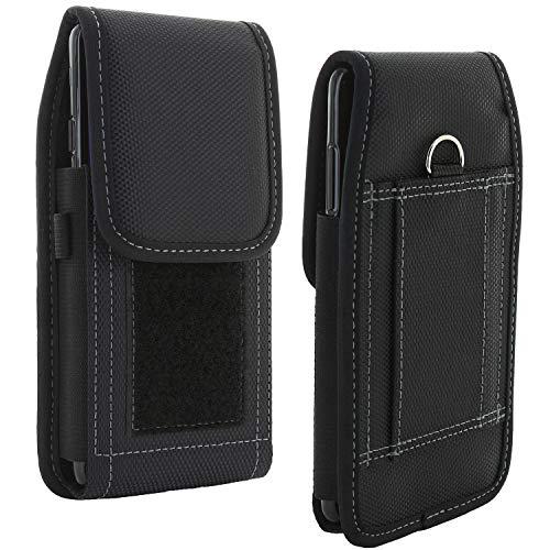 XiRRiX Handy Gürteltasche V7 - Smartphone Tasche passend für Huawei Y6 Y7 2019 / Nokia 7.2 / Motorola Moto G7 G8 / Samsung Galaxy A21s A51 M21 M31 A71 / S20 FE - Gürtel Handytasche schwarz