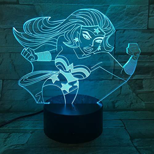 Usb Sleeping Led 3D LED Night Light Lámpara de mesa mesita de noche Decoración Regalo de niños