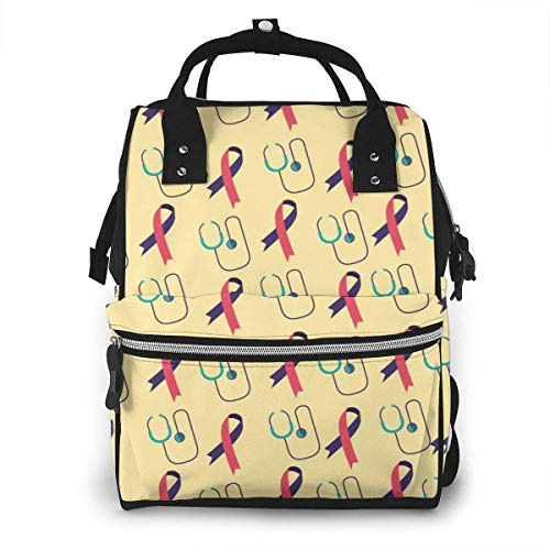 UUwant Sac à Dos à Couches pour Maman World Health Day Diaper Bags Large Capacity Diaper Backpack Travel Nappy Bags Mummy Backpackling