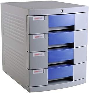 KANJJ-YU Tiroir de bureau Sorter 4 couches en plastique de type tiroir de verrouillage de stockage de données Office rack ...