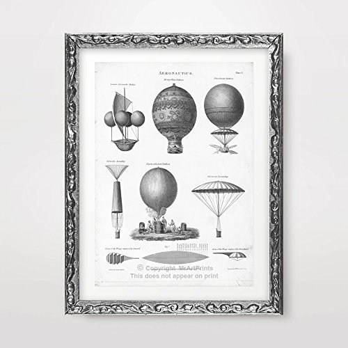 STEAMPUNK ART PRINT POSTER Victorian Airship Hot Air Balloon Home Decor Wall Picture Unusual Vintage Curiosity A4 A3 A2 (10 Sizes) steampunk buy now online