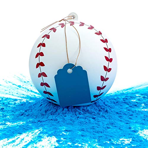 Winsharp Gender Reveal Baseball - Single Balls - Exploding Pink and/or Blue Powder Baseballs - Choose Your Ball Color - Best Idea for Boy or Girl Softball Baby Sex Revealing Party (Blue)