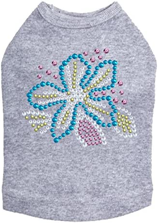 Turquoise Flower - Dog XS Gray National uniform free shipping Heather In a popularity Shirt