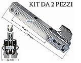 NARDI 2 CERNIERE FORNO PORTA PESANTE 3 VETRI 15,5 CM COMPACT MP CF3645K KCF 3697
