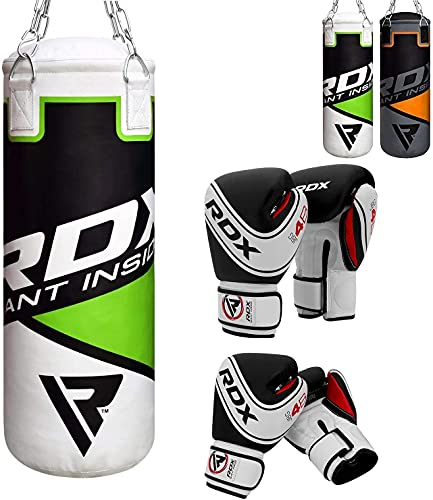 RDX Kids Punching Bag 2FT with Punch Gloves, Heavy Filled Boxing Set, Non Tear Maya Hide Leather...