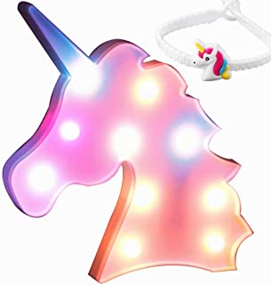 STARTECO Unicorn LED Light Party Supplies Kids Llama Light Battery Operated LED Night Light Wall Living Room,Bedroom,Home, Christmas,Party as Kids Gift (Head Colorful)