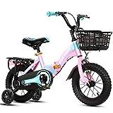Vélos enfants Vélo pour Enfants, Vélo Pliant À Absorption De Chocs Garçon, pour 2-3-6-8 Ans, Vélo Fille 12-16 Pouces (Color : Pink-12 in)