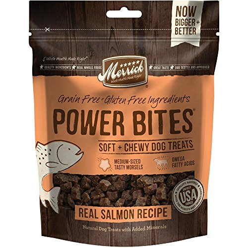 Merrick Power Bites Salmon Recipe Treats 6 oz