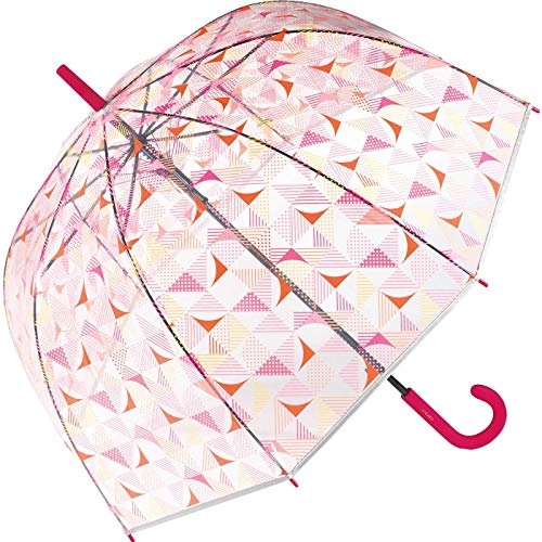 Esprit Automatik Regenschirm Glockenschirm durchsichtig transparent Triangle