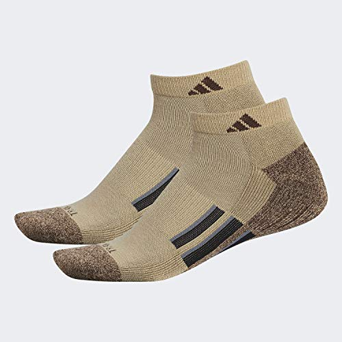 adidas Climalite X II Low Cut Socks (2 Pack) Calcetines, Hombre, Caqui-Chocolate Marl/Chocolate/Negro/Onix, Large
