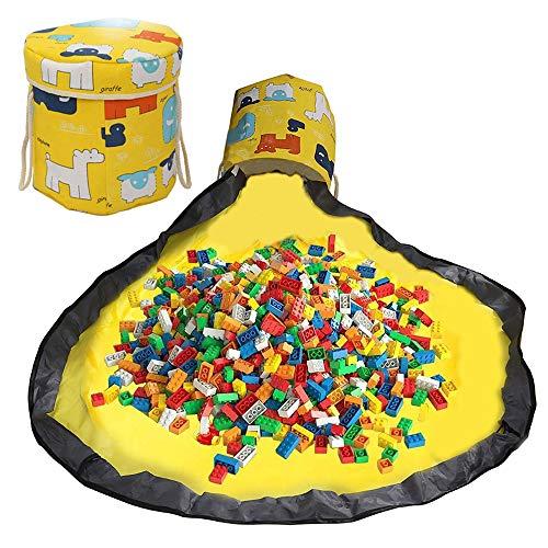 Kinder Aufräumsack mit Drawstring Spieldecke Spielzeug Speicher Tasche Aufbewahrung Beutel Spielzeugaufbewahrung