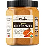 Roots Circle USDA Organic Goji Berry Powder | Bulk Supply of Goji Berry Fruit Superfood | Naturally Rich in Antioxidants to Support Healthy Skin & Energy | Natural, Vegan, Non-GMO, Kosher | 14.1oz Jar