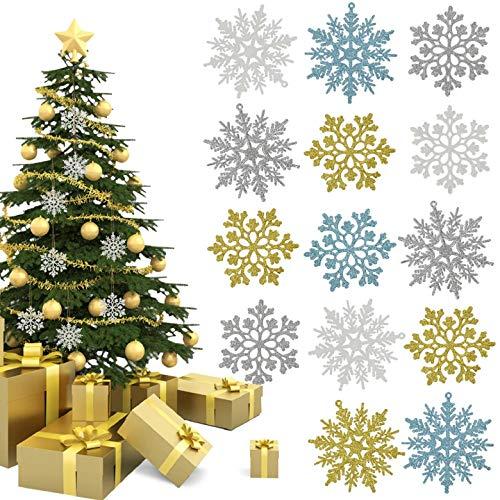 Yuson Girl Fiocchi di Neve per Natale Decorazione Albero di Natale da Appendere Pendenti Ornamento per Le Vacanze Festival Partito Home Decorazione Natalizia Ornamenti Appesi