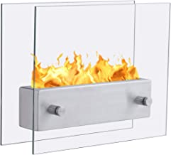 BestComfort Double-Sided Gel Fireplaces,Eye-catching Tabletop Fireplace,Ventless Tabletop Bio Ethanol Fireplace for Indoor & Outdoor