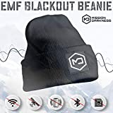 Mission Darkness EMF Blackout Beanie - Anti-Radiation Hat Protects Against EMF EMI RF 5G Wireless Signals - Universal Adult Size