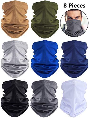 Summer UV Protection Neck Gaiter Scarf Balaclava Breathable Face Cover Scarf (Black, Grey, Blue, White, Khaki, Dark Grey, Navy Blue, Army Green, 8)
