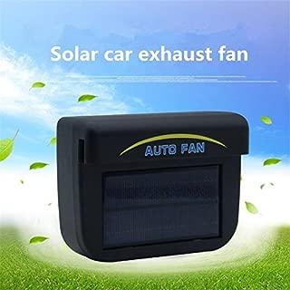 Qiyun 0.8W Solar Powered Car Auto Cooler Ventilation Fan Automobile Air Vent Exhaust Heat Fan with Rubber Strip