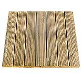 Suinga Packung mit 6 Fliesen aus Kiefernholz, gerade, 50 x 50 cm und 32 mm. 6 Stück