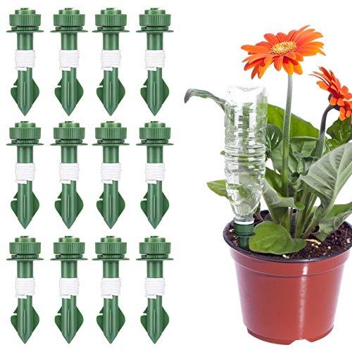Fostoy Automatisch Bewässerung Set,12 Stück Bewässerung für Topfpflanzen Einstellbar, Bewässerungssystem für Garten Pflanzen Blumen Ideal Wasserversorgung Während Ihrem Urlaub