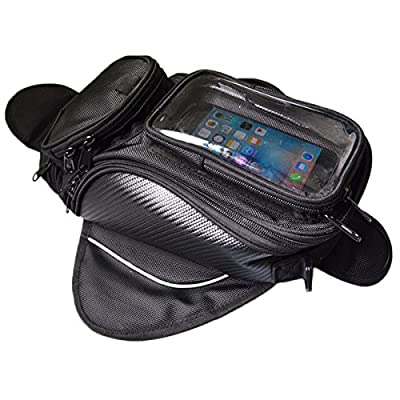 Lozom Motorcycle Gas Oil Fuel Tank Bag Waterproof Backpack & Magnetic Motorcycle Tank Bag for Honda Yamaha Suzuki Kawasaki Harley by flower zombies.Ltd