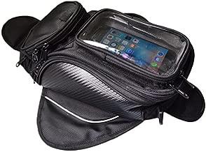 Lozom Motorcycle Gas Oil Fuel Tank Bag Waterproof Backpack & Magnetic Motorcycle Tank Bag for Honda Yamaha Suzuki Kawasaki Harley