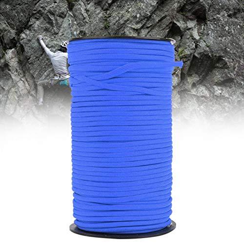 DAUERHAFT Cuerdas de Supervivencia Cordón de paracaídas Duradero Núcleo para Exteriores Cordón estándar Militar Resistente para Senderismo, Camping, Escalada con estándar(Blue)