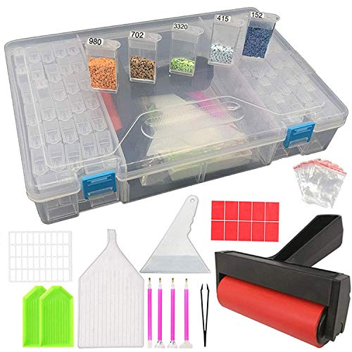 ARTDOT Diamond Painting Tools Kit, Diamond Embroidery Accessories Storage Container