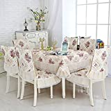SWCAAE 9pcs / Set Modern Wedding Mantel, Set Kitchen Table Banquet Mantel Cubierta Mantel Silla Silla, dahuang, Aproximadamente 130x180cm