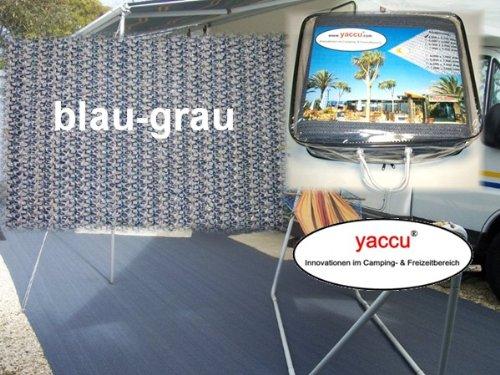 Yaccu Hochwertiger VORZELTTEPPICH 5 x 2,5m blau-grau
