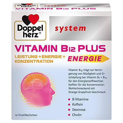 Doppelherz system VITAMIN B12 PLUS – Vitamin B12 trägt zur Verringerung von Müdigkeit und Erschöpfung bei und unterstützt die normale Funktion des Nervensystems – 10 Trinkfläschchen