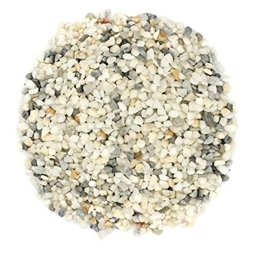 Royal Ram Natural White Pea Gravel & Pebbles – (2 Pounds) Size 1/8' – for Interior Decor, Landscaping, Vase Filler, Aquarium, Terrarium, Fairy Gardens, Succulents, Bonsai Trees