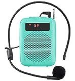 JCWY Amplificatore Vocale, Sistema PA Ricaricabile da 12 W (1500 mAh) con Microfono Cablatoper Insegnanti, Guida Turistica e altro (Blu)